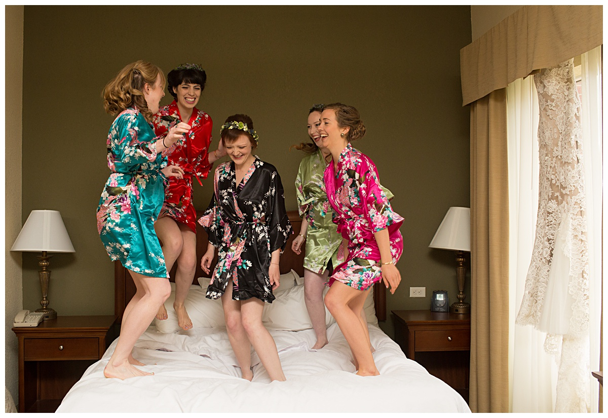 Jumping Bridal party, rochester ny wedding photographer, Ciao Bella Studios
