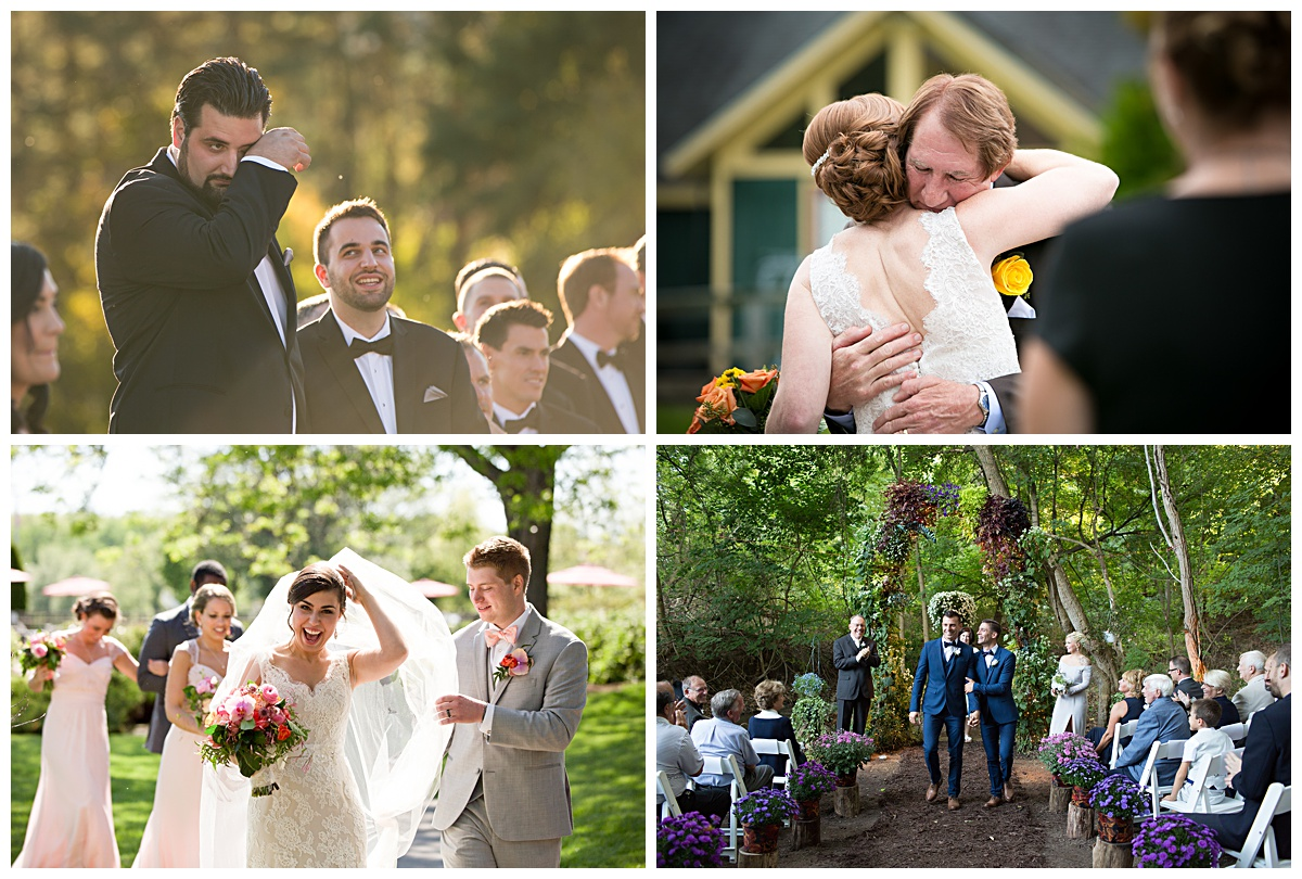 Upstate New York wedding photographer, outdoor ceremony, joyful weddings