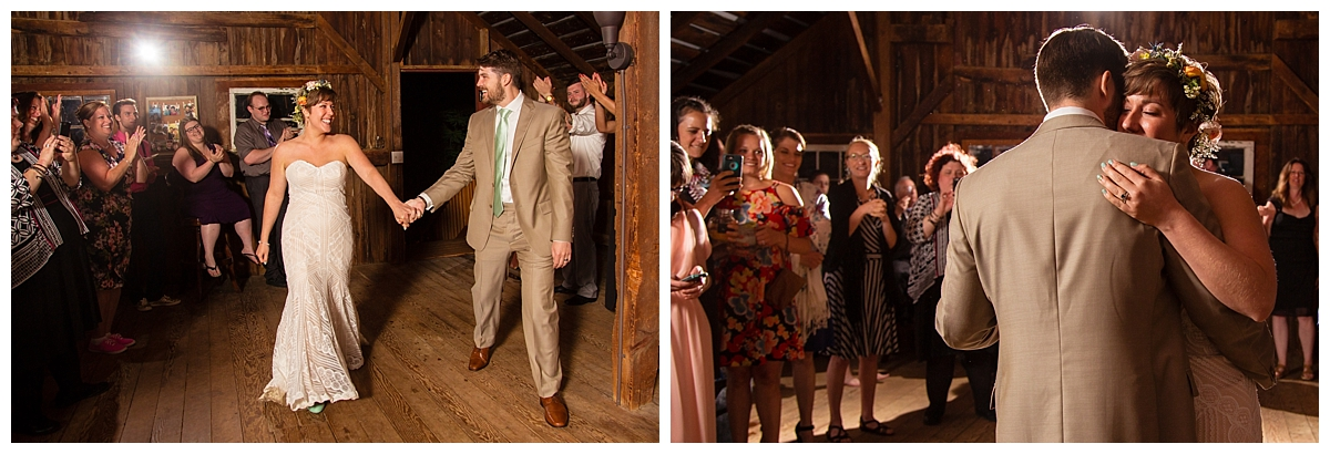wedding couple first dance, barn wedding, western NY