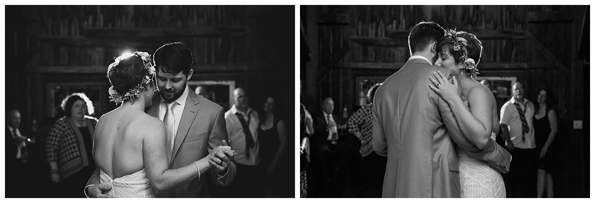 romance, first dance, barn wedding