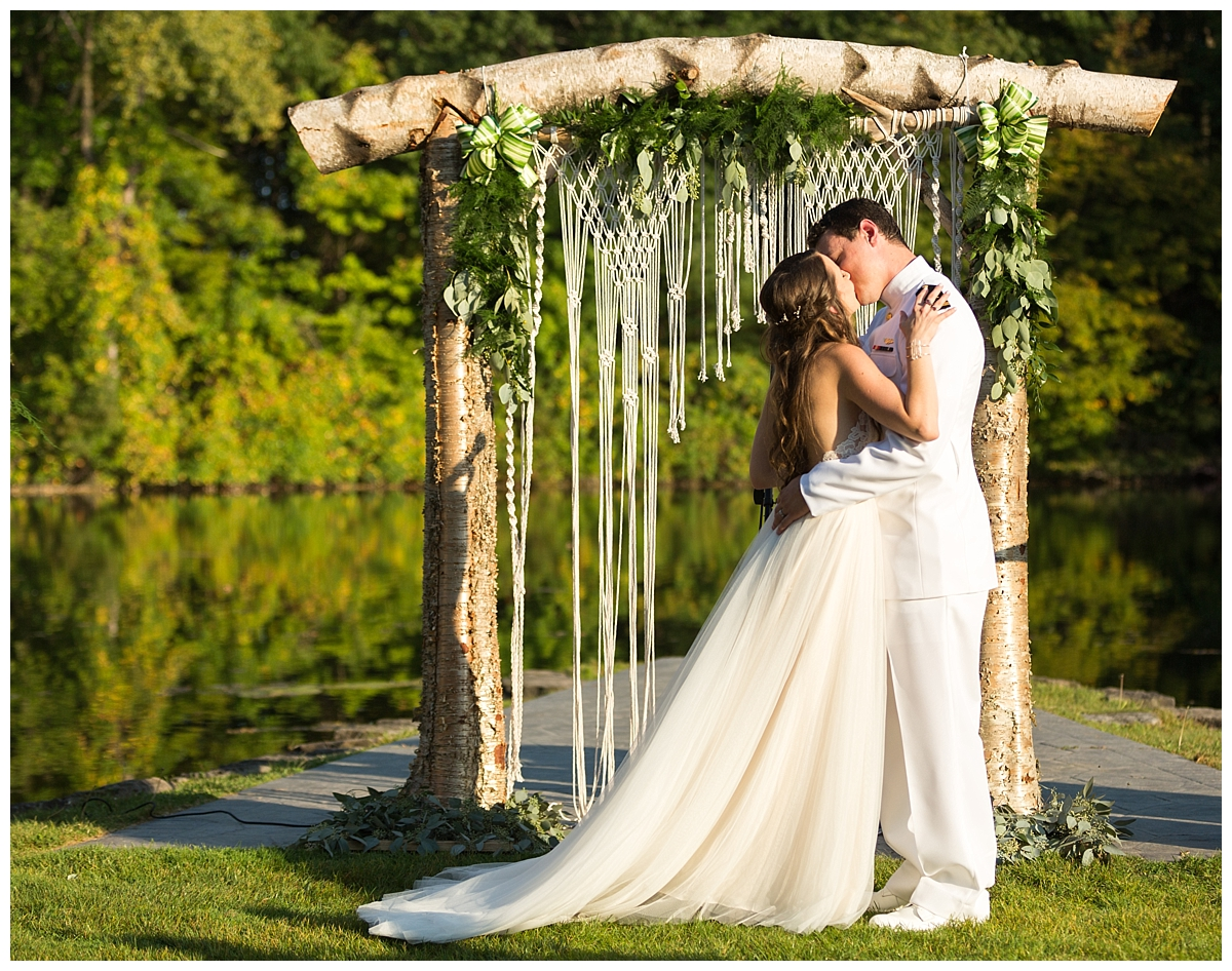 bohemian macrame wedding backdrop, shadow lake golf club wedding, ciao bella studios