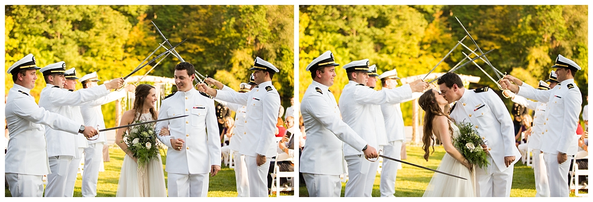 saber arch, naval wedding, ciao bella studios wedding