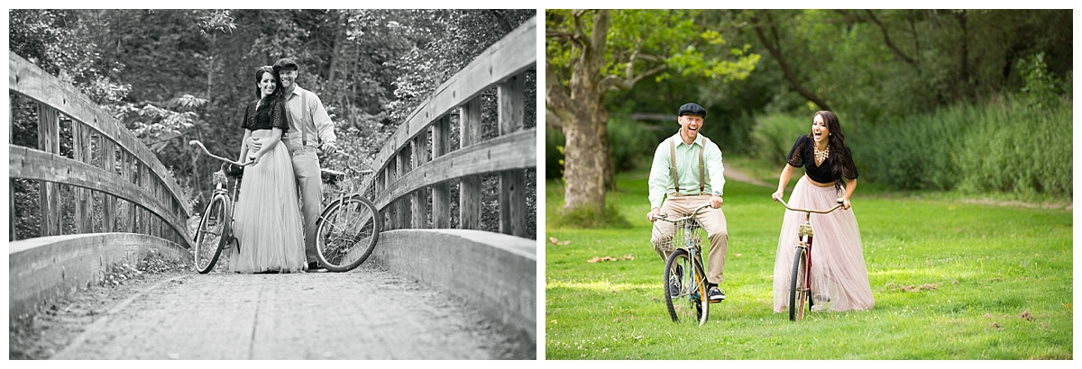 Vintage Bike engagement session, Rochester New York Wedding photographer, New York engagement photographer