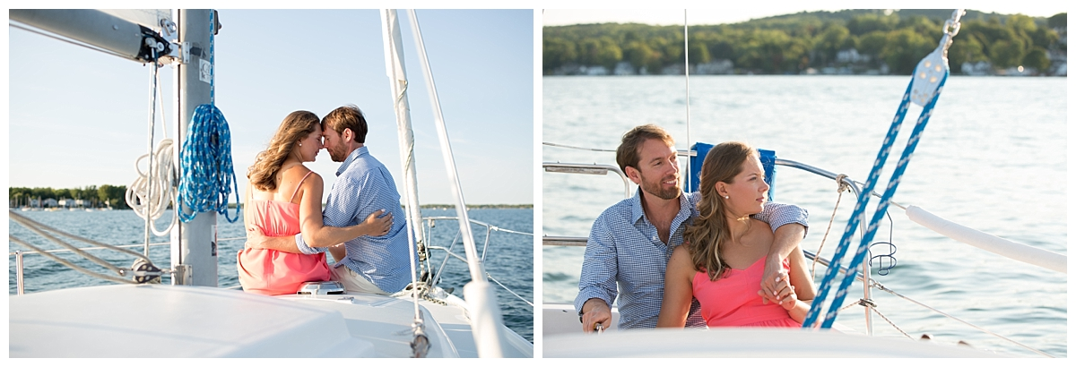 sailing engagement session, finger lakes wedding, canandaigua wedding
