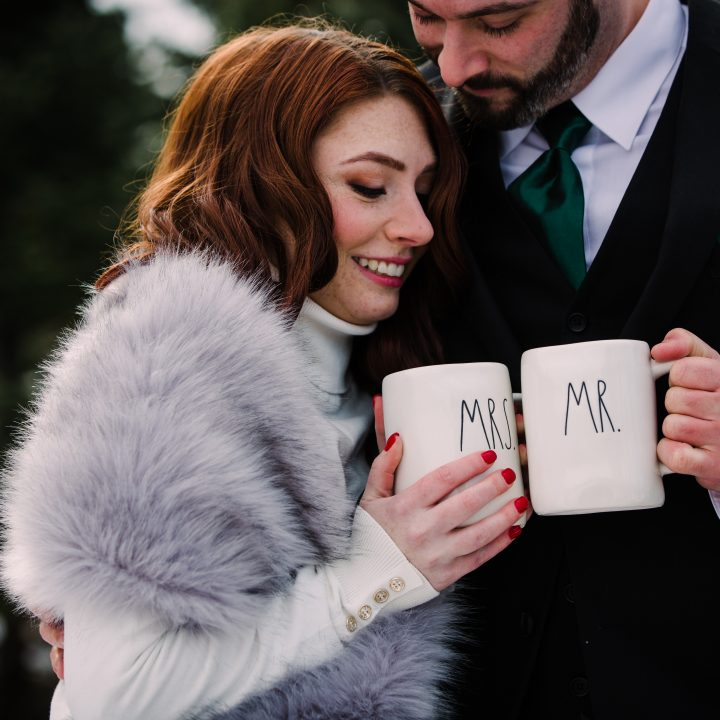 Rochester NY Wedding|A long awaited snowy winter love story|winter engagement session