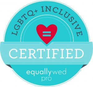 LGBTQ+ Inclusive Certified Photographer badge