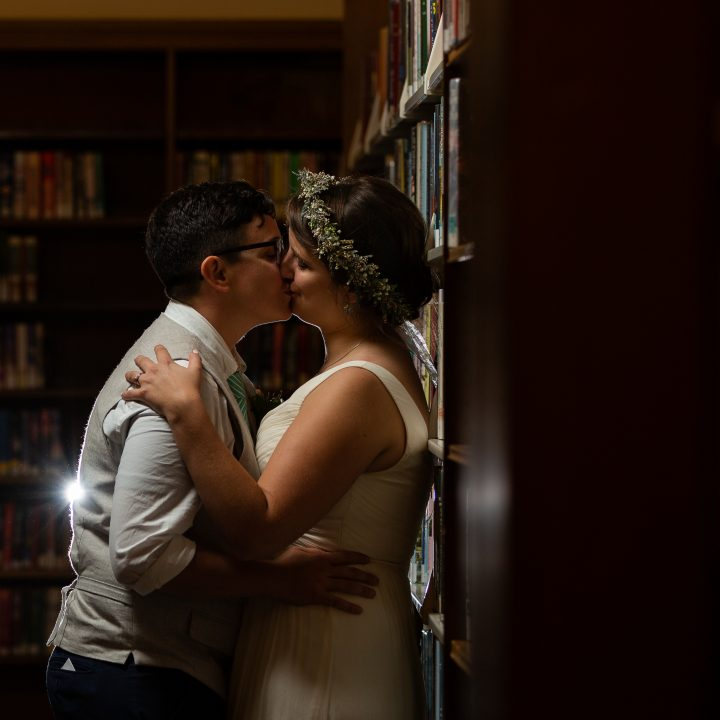 Two amazing women and a party in a library? Yes please! Rochester, New York Ellison Park, Rundel Library Wedding